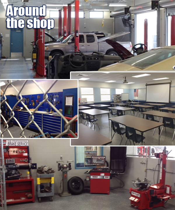 Around the shop collage