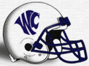 WC football helmet